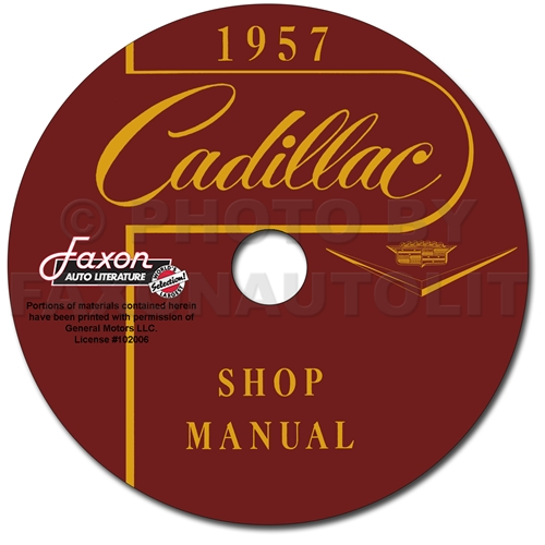 1957 Cadillac Repair Shop Manual CD-ROM