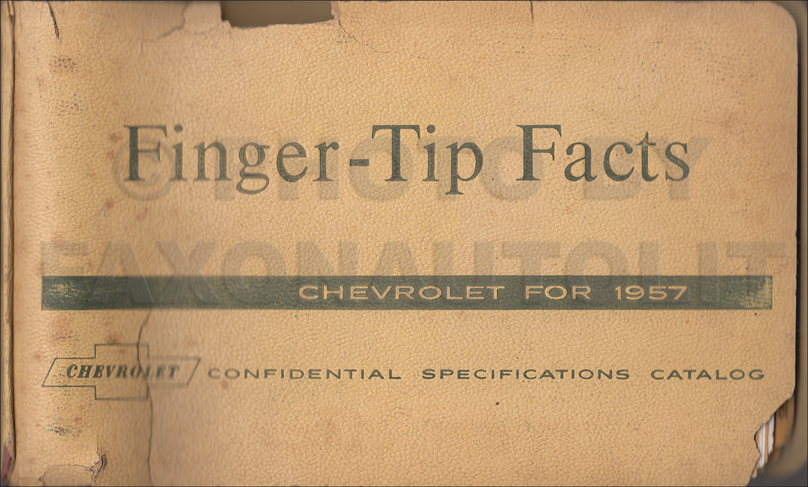 1957 Chevrolet Car Finger Tip Facts Book Dealer Album Original