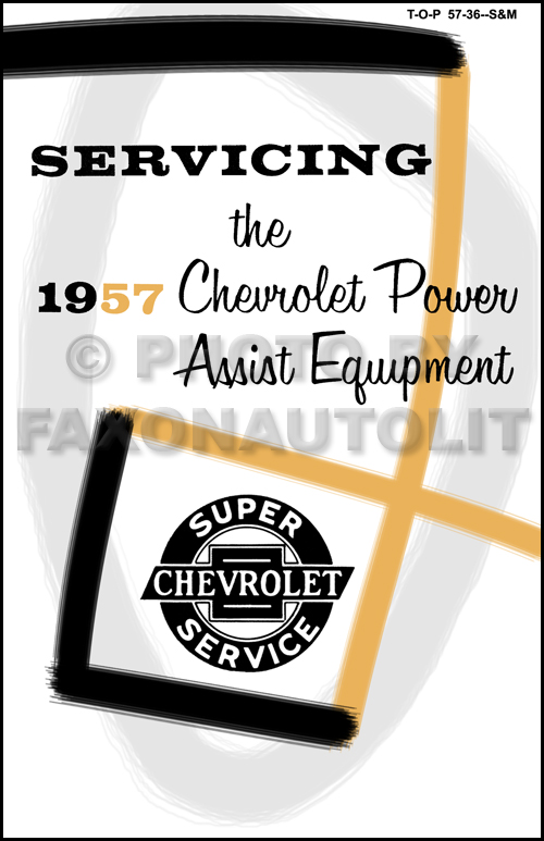 1957 Chevrolet Power Equipment Manual Reprint - Windows, Seats, Convertible Top