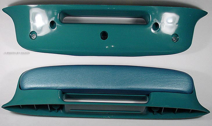 2 Blue Arm Rests for 1957 57 Chevy Bel Air
