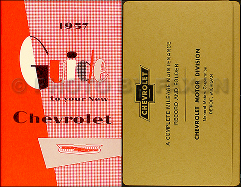 1957 Chevrolet Car Reprint Owner's Manual Package