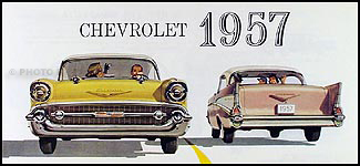 1957 Chevrolet Car Color Sales Folder Reprint for All Models
