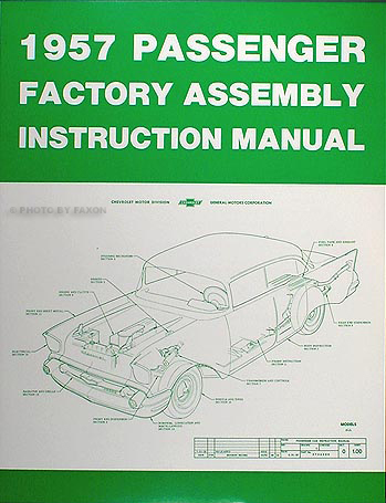 1957 Chevrolet Car Assembly Manual Reprint