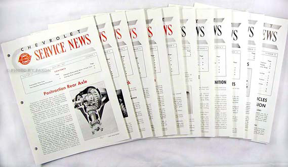 1957 Chevrolet Service News (12 issues) reprint