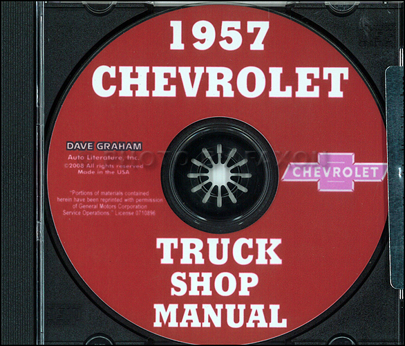 1957 Chevrolet Pickup and Truck CD-ROM Repair Shop Manual