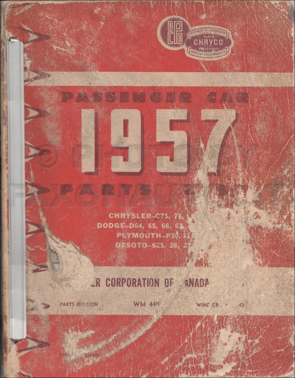 1957 Chryco Car Parts Book Original Canadian