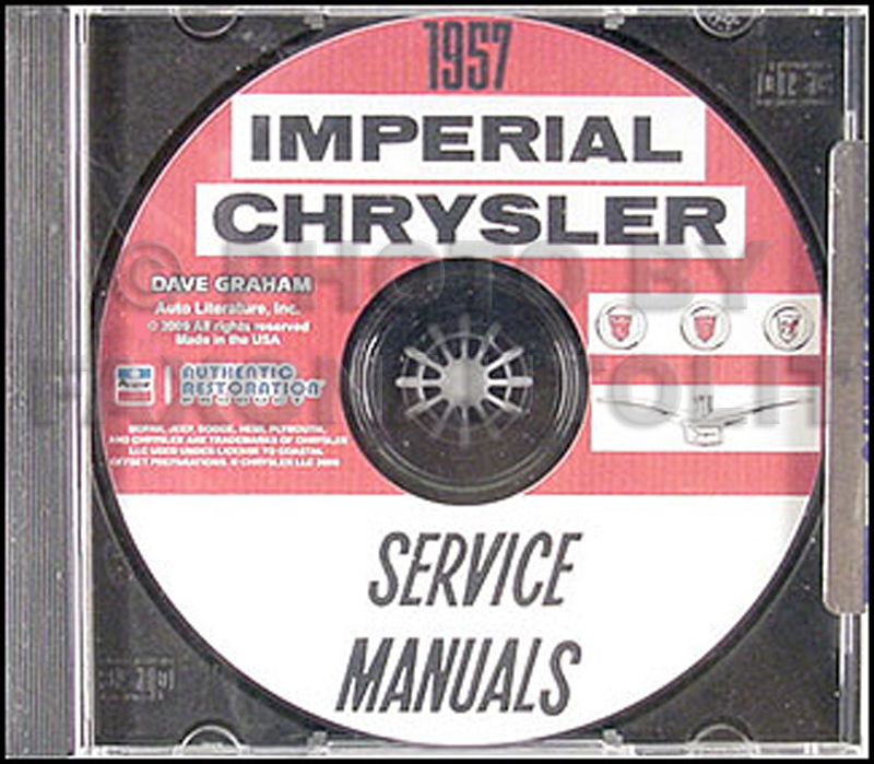 1957 Chrysler Repair Shop Manual CD all Imperial Windsor New Yorker Saratoga