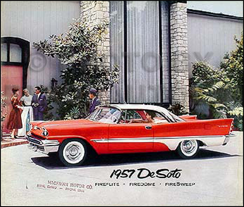 1957 DeSoto Original Color Sales Brochure