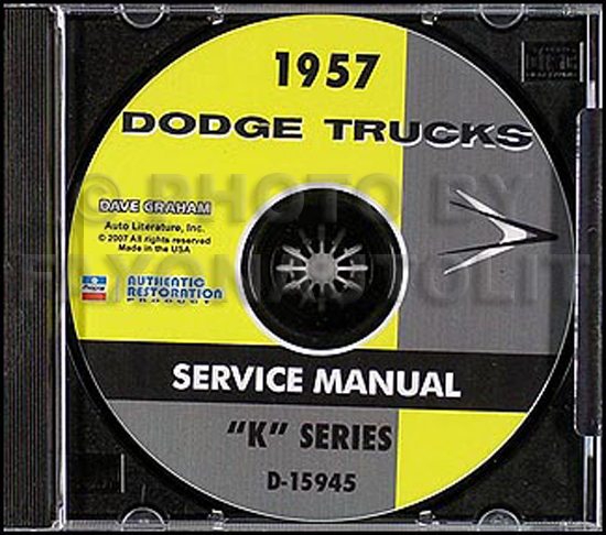 1957 Dodge Truck CD-ROM Shop Manual