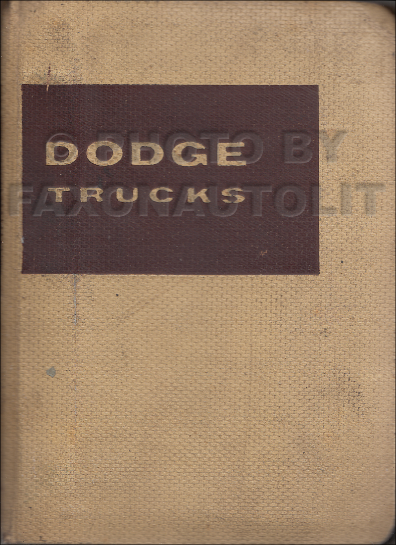 1957 Dodge Truck Data Book Original