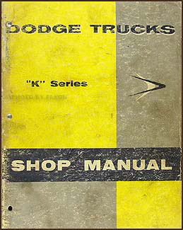 1957 Dodge Truck Shop Manual Original
