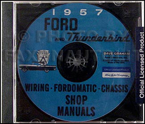 1957 Ford Car and Thunderbird Shop Manuals CD-ROM
