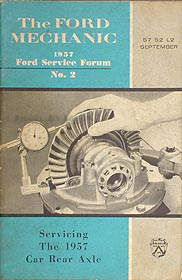 1957 Ford Car and Thunderbird Rear Axle Service Training Manual Original