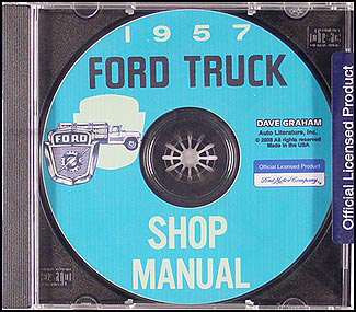 1957 Ford Truck Shop Manual CD-ROM