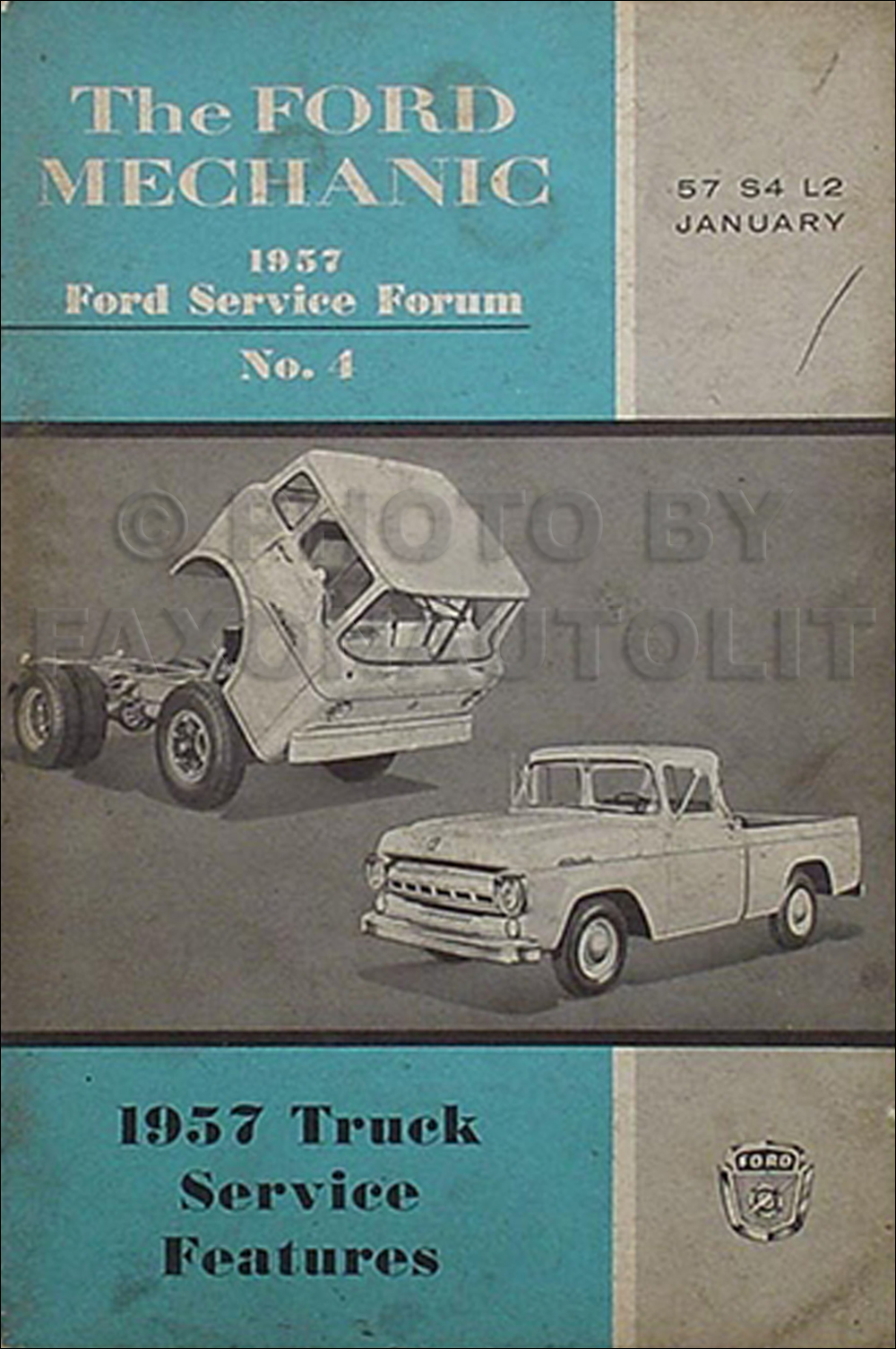 1957 Ford Truck Service Features Training Manual Original