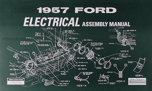 1957 Ford Electrical Assembly Manual Reprint for Car & Retractable