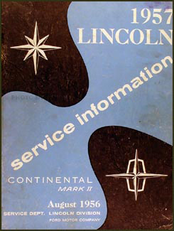 1957 Lincoln Repair Shop Manual Supplement Original Mark II Capri Premier