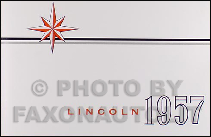 1957 Lincoln Capri & Premier Owner's Manual Reprint