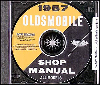 1957 Oldsmobile CD-ROM Shop Manual  for 57 Olds 88 & 98