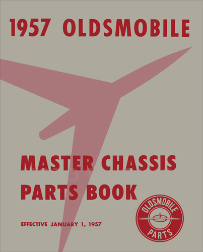 1949-1957 Oldsmobile Mechanical Parts Book Reprint