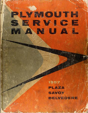 1957 Plymouth Service Manual Original