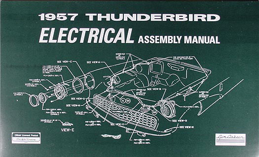 1957 Ford Thunderbird Electrical Assembly Manual Reprint