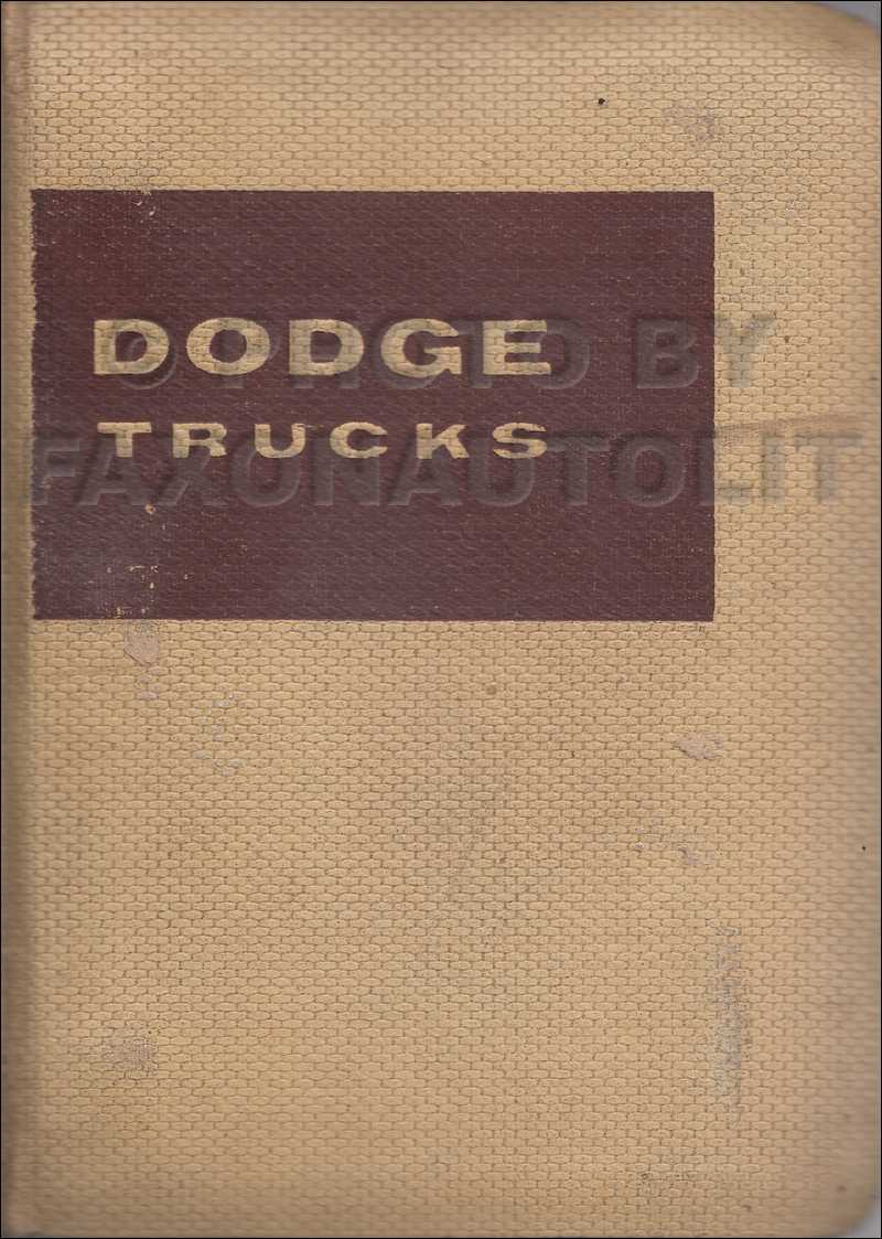 1959-1960 Dodge Truck Data Book Original