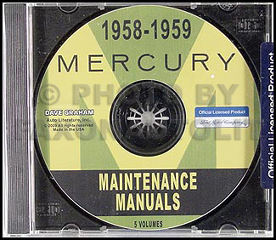 CD-ROM 1958 & 1959 Mercury Shop Manuals