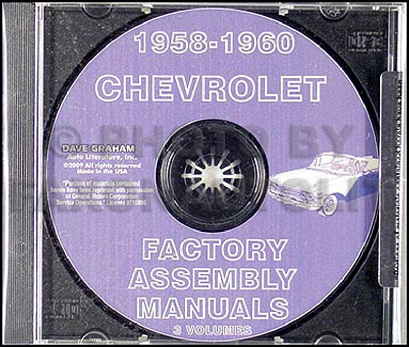 CD 1958-1960 Chevy Assembly Manual Biscayne Bel Air Impala El Camino