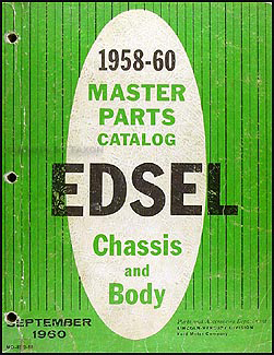 1958-1960 Edsel Master Parts Book Original