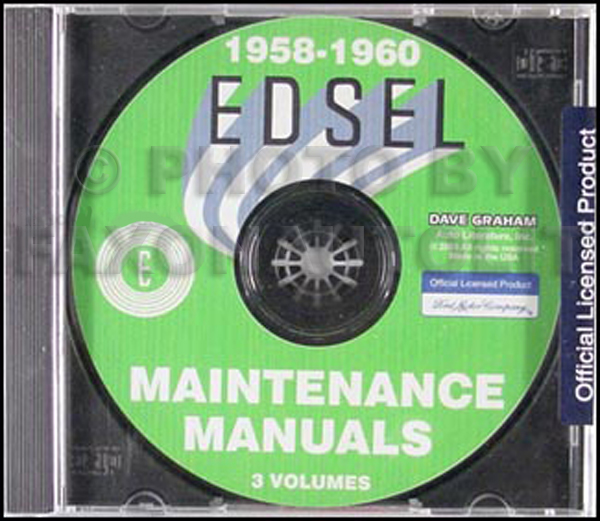 1958-1960 Edsel Repair Manuals on CD-ROM