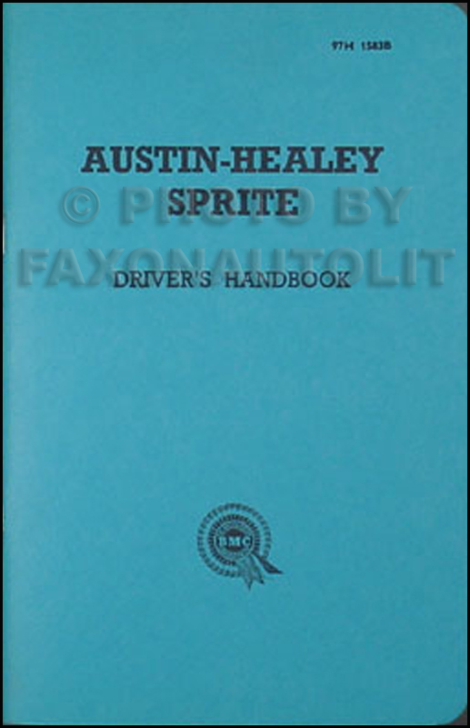 1958-1961 Austin Healey Sprite Owner's Manual Reprint