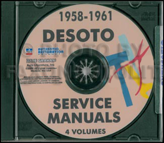 1958-1961 DeSoto Shop Manuals on CD-ROM