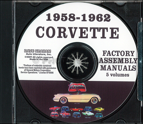 1958-1962 Chevrolet Corvette Assembly Manual on CD-ROM