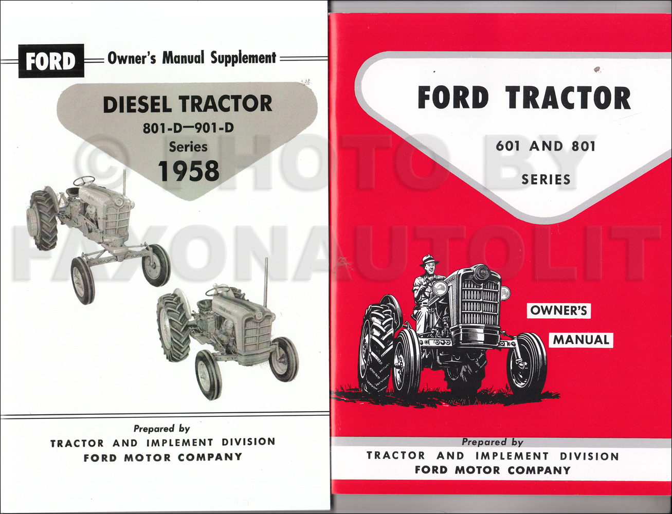 1958-1962 Ford 601-D & 801-D Series Tractor Diesel Owner's Manual