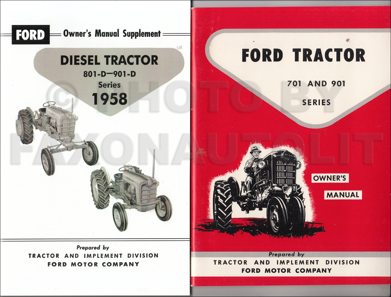 1958-1962 Ford 701 & 901 Series Tractor Diesel Owner's Manual Set Reprint