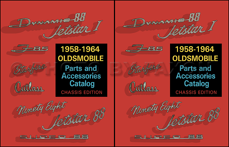 1958-1964 Oldsmobile Chassis Parts Catalog Reprint 2 Volume Set