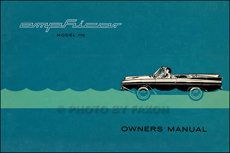 1961-1967 Amphicar Model 770 Owners Manual Reprint