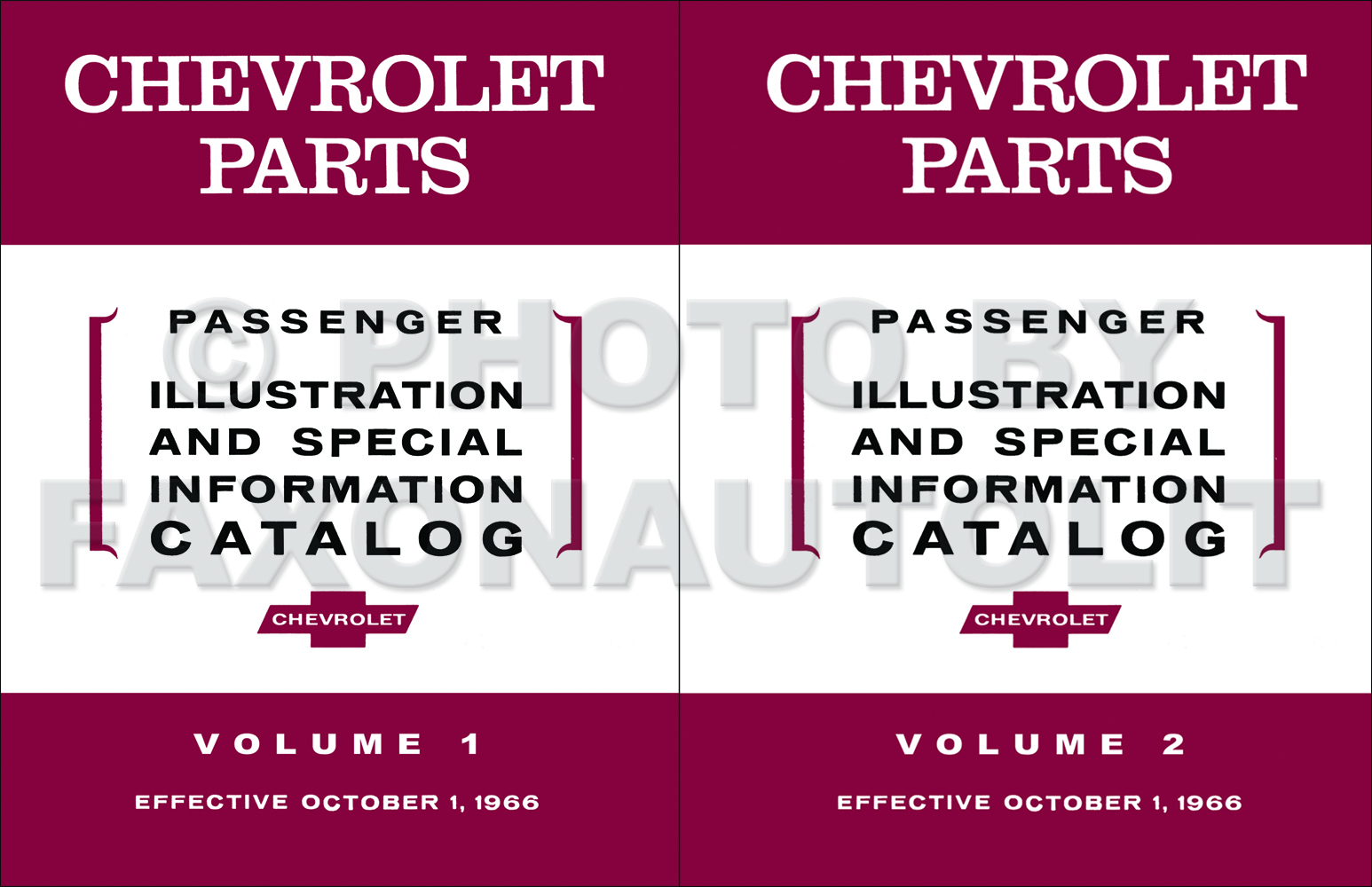 1958-1967 Chevrolet Car Parts Illustration and Special Information Catalog Reprint