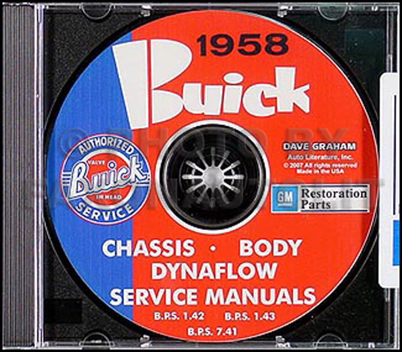1958 Buick CD-ROM Shop Manual for all models