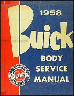 1958 Buick Original Body Repair Manual