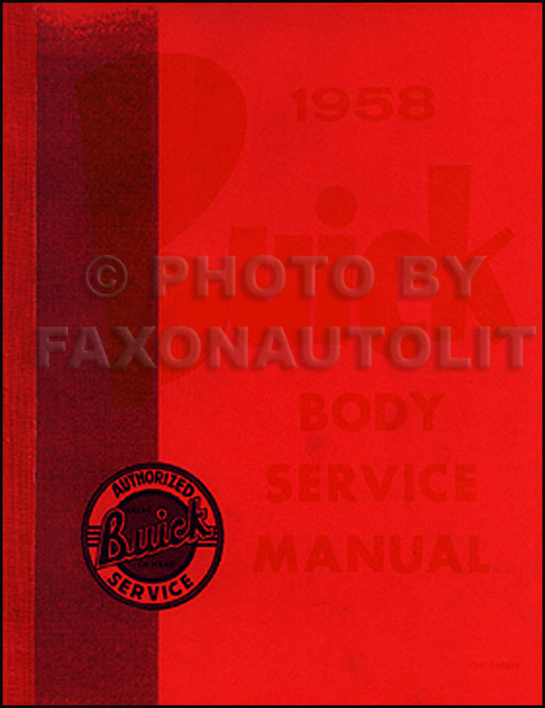 1958 Buick Reprint Body Repair Manual