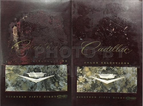 1958 Cadillac Color and Upholstery Albums Large 2 Book Set