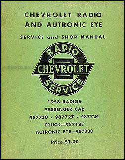 1958 Chevy Radio & Autronic Eye Manual Original
