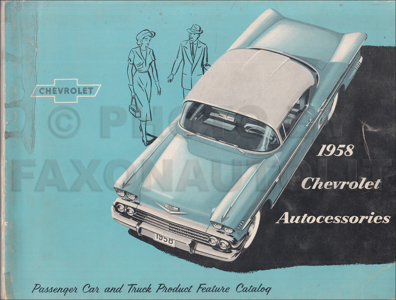 1958 Chevrolet Custom Feature Accessories Dealer Album Original