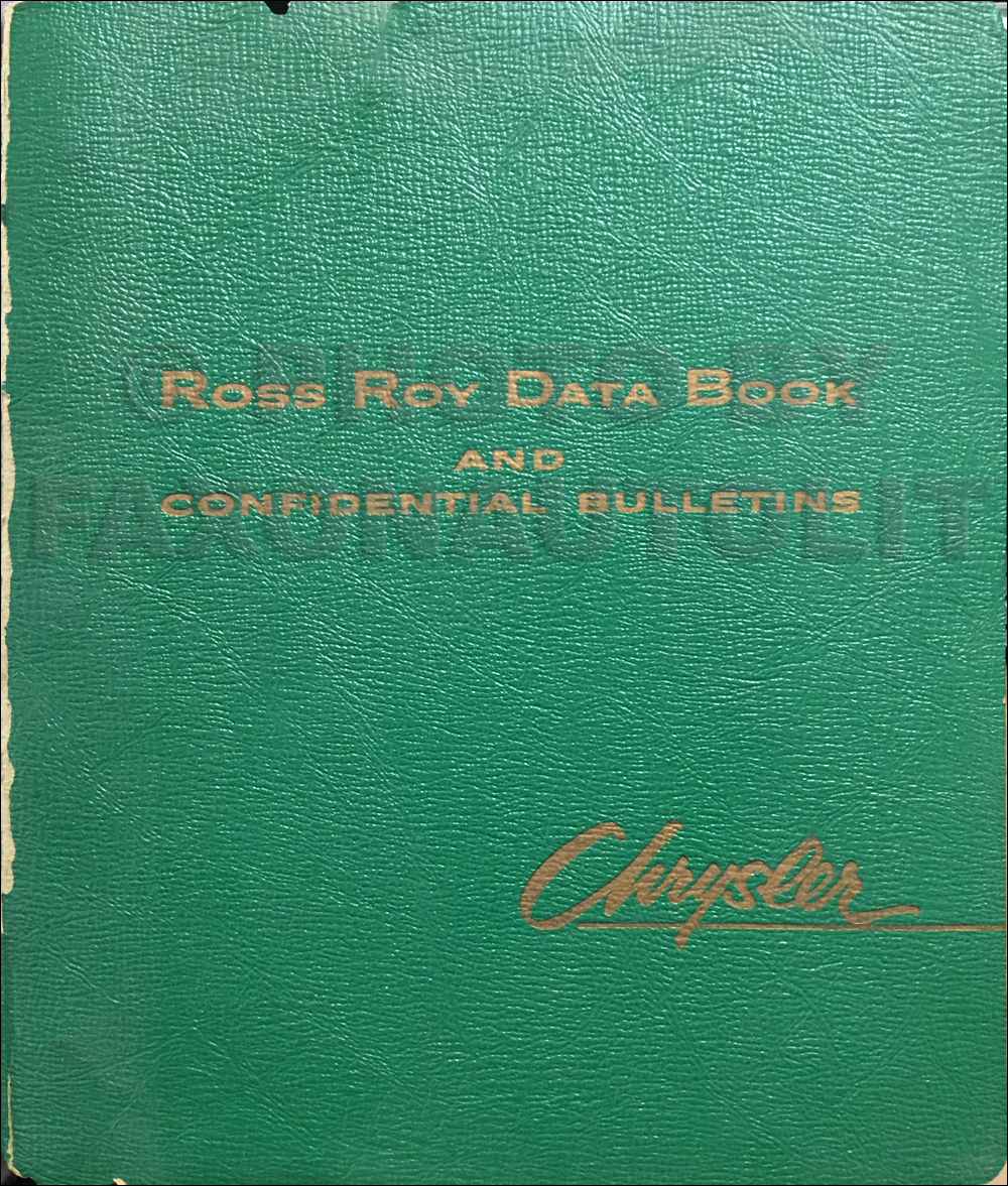 1958 Chrysler Data Book Original