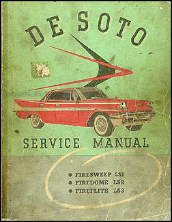 1958 De Soto Shop Manual Original