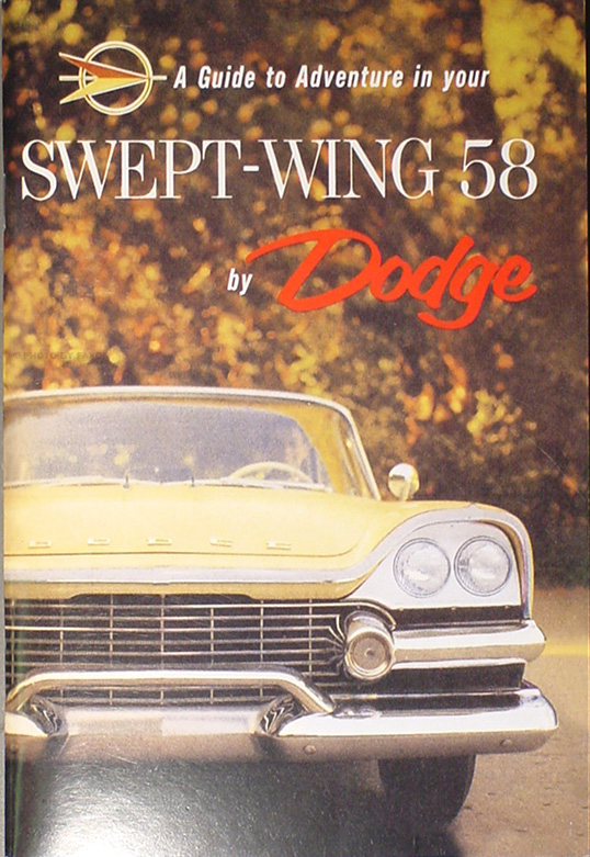 1958 Dodge Car Reprint Owner's Manual