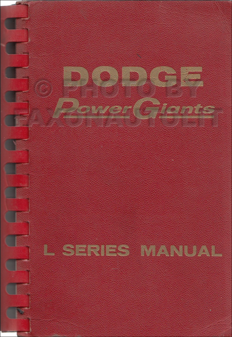 1958 Dodge Truck Data Book Original