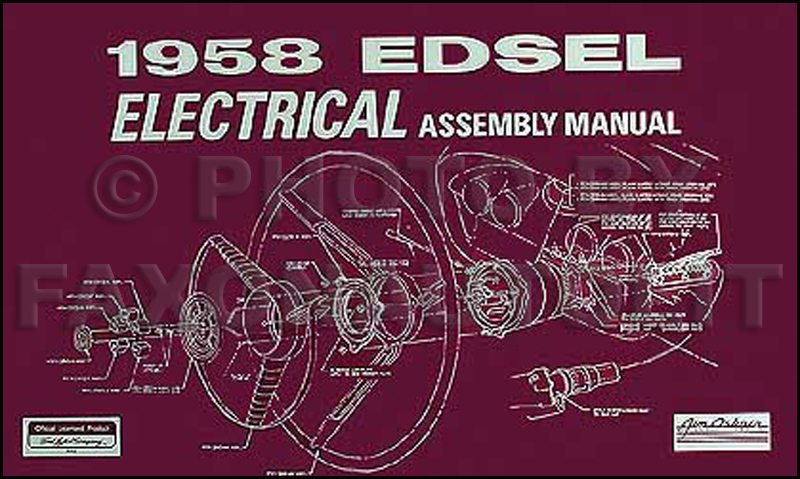 1958 Edsel Electrical Assembly Manual Reprint